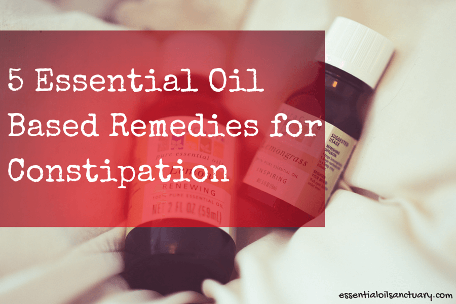 5 Essential Oil Based remedies for constipation