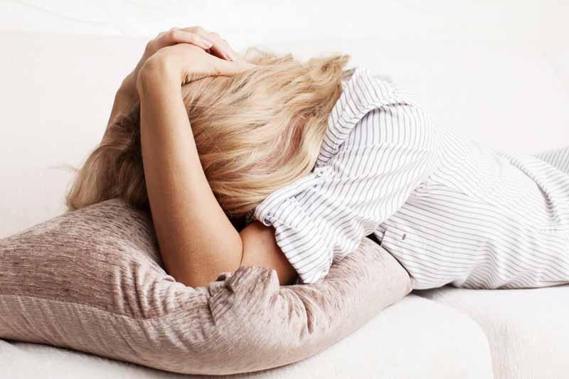 sleepy tired upset