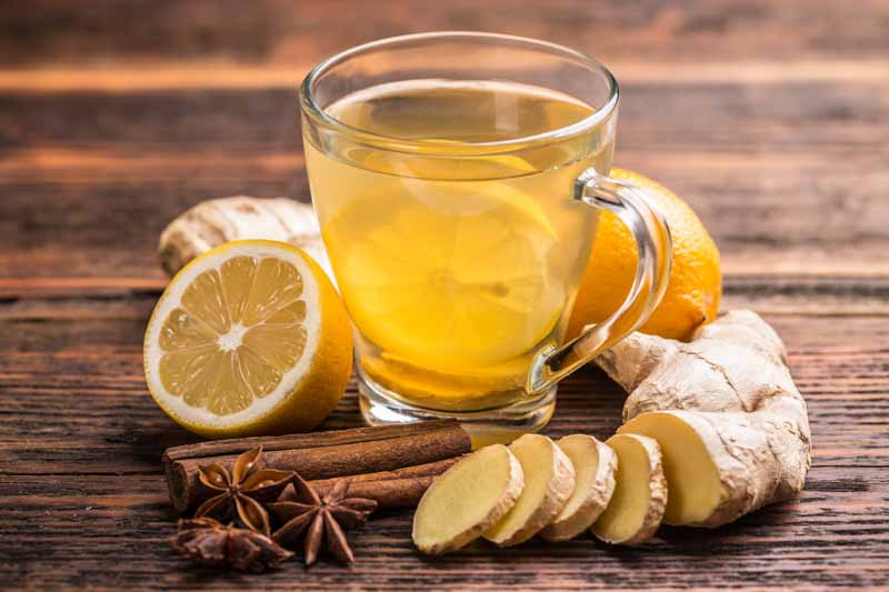 tea ginger cinnamon lemon