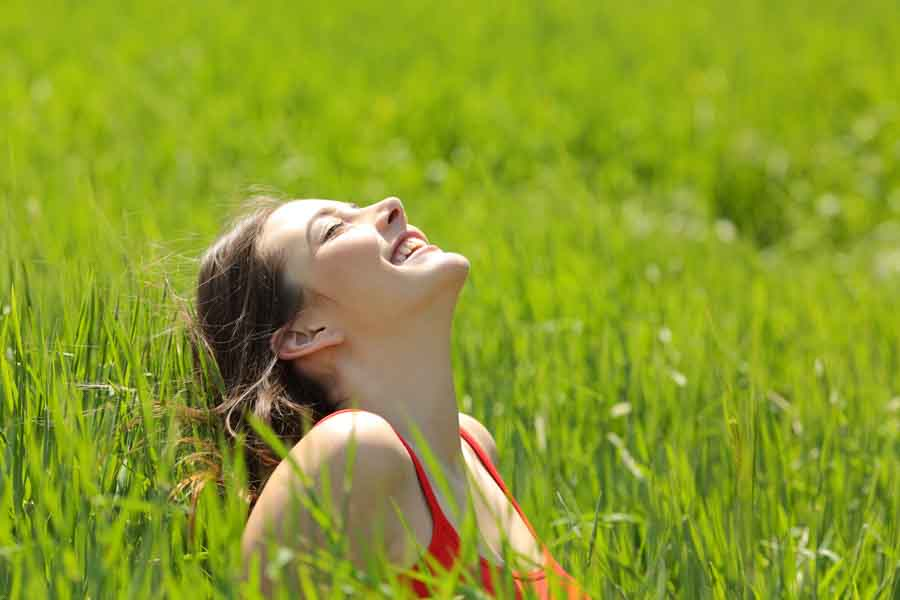 happy woman outdoors in the sun 2