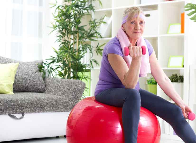 older women healthy workout