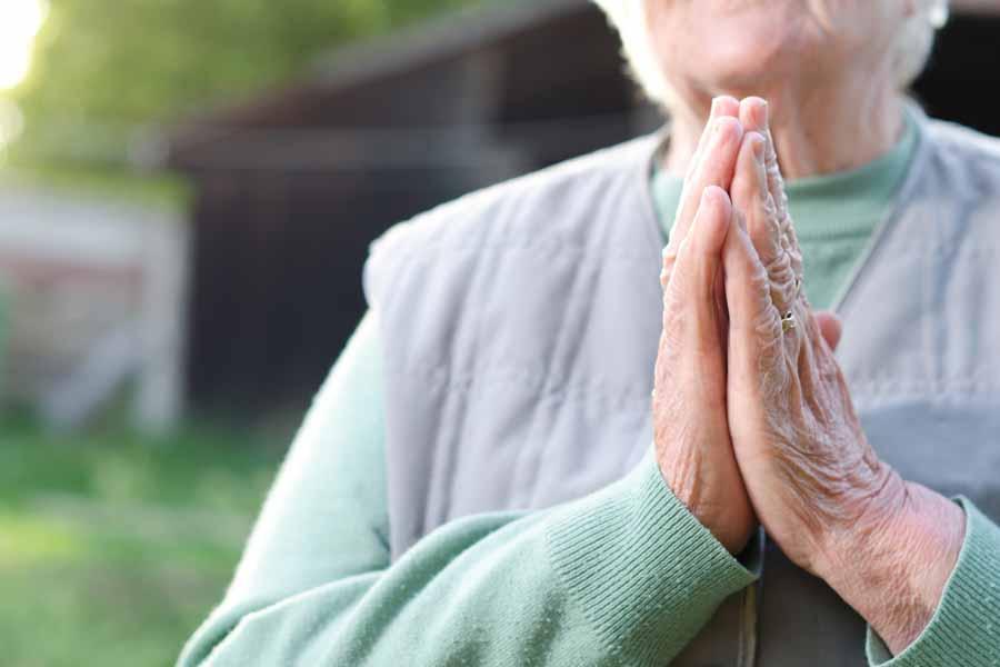 older women peaceful